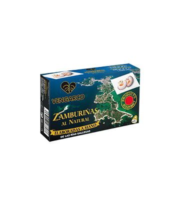 """Zamburiñas al Natural de la Conservera """"Aeroso"""" de alta calidad"""