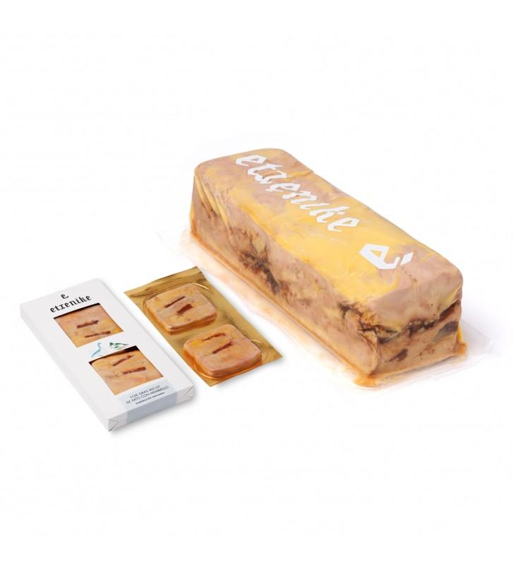 Delicioso foie gras de pato Etxenike con un toque dulce del membrillo