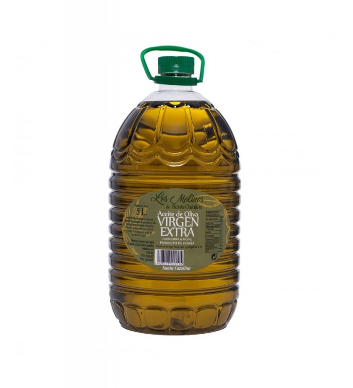 Auténtico aceite de oliva virgen extra de origen Castilla la Mancha.