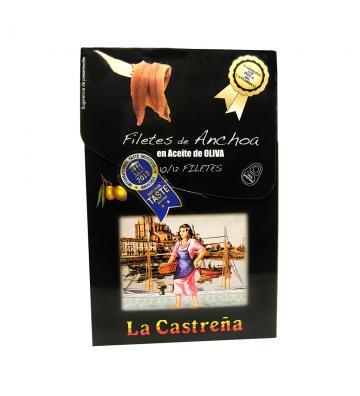 Formato ideal para tener siempre en la nevera unas buenísimas anchoas del cantábrico de La Castreña