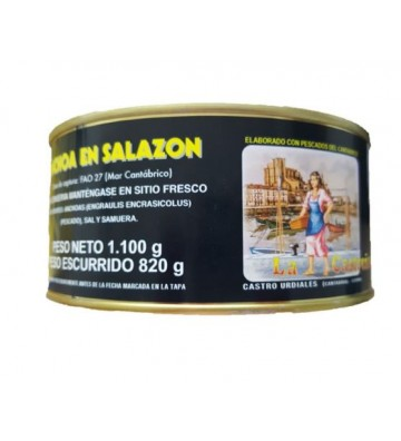 Auténtica anchoa en salazón de La Castreña, suave y textura inigualable