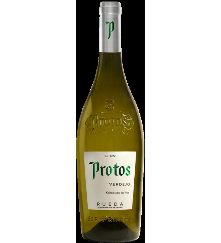 Vino blanco Protos Verdejo D.O. Rueda, que une frescura y acidez natural equilibrada.