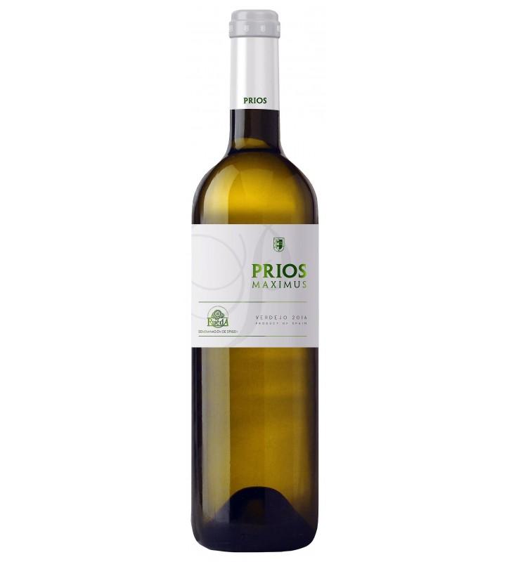 Vino blanco Prios Maximus Verdejo D.O.Rueda, con cuerpo, gran frescura y fructuosidad.