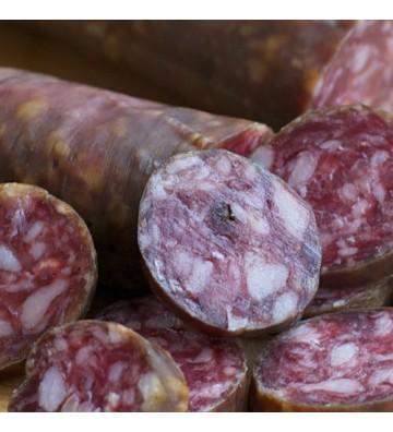 Salchichón también conocido como chorizo blanco para un buen aperitivo de Entrepeñas