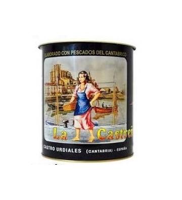 Auténtica anchoa en salazón del Cantábrico de La Castreña, suave y textura inigualable