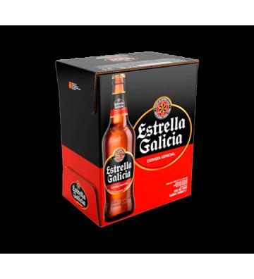 Cerveza Estrella Galicia Pack 6 botellas de 66 cl.
