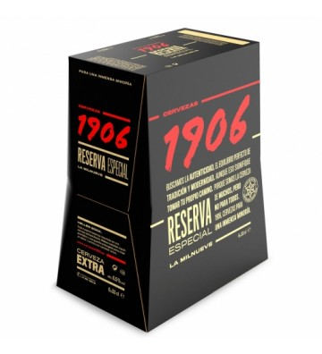 Cerveza 1906 Reserva Especial Pack 6 bot. de 33 cl.